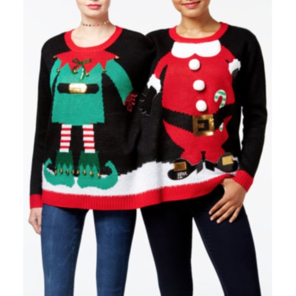 Christmas Sweaters 2 Person Santa Elf Ugly Sweater Funny Poshmark
